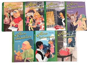lot 7 Livres série ALICE - collection La Bibliothèque Verte - série Actuelle