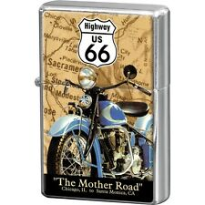 NOSTALGIE Benzinfeuerzeug ROUTE 66 - THE MOTHER ROAD Highway Sturmfeuerzeug NEU