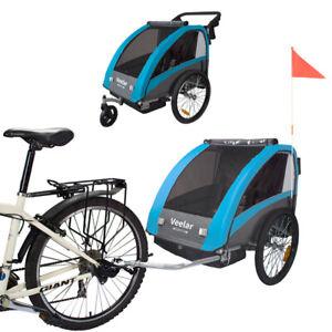 Veelar Sports 2 in 1 Kinderanhänger Fahrradanhänger Anhänger 2. WAHL