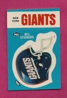 1987 NEW YORK GIANTS   NFL FOOTBALL STICKERS  NRMT-MT CARD (INV# A4890)