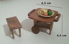 meubles en bois pour vitrine maison de poupée, collection, miniatures   *B1