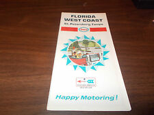 1968 Enco Florida West Coast/St. Petersburg/Tampa Vintage Road Map