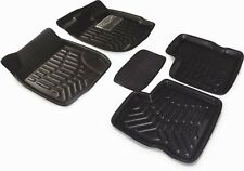 3D Foot Mats Car mats Black Color for Maruti Suzuki Vitara Brezza (5 pcs)
