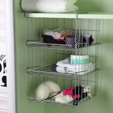 3 x Under Shelf Storage Basket,Kitchen Cabinet Rack ,Bathroom Organiser Shelves