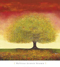 Dreaming Tree Red  by Melissa Graves-Brown Landscape Poster Print 30X27