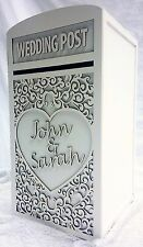 Large Wedding Card Post Box (Personalised) - (White)