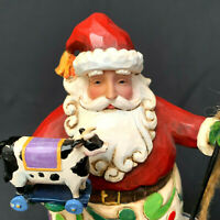 Jim Shore Holiday Fun Small Santa With Cow Figurine 4010850 2008