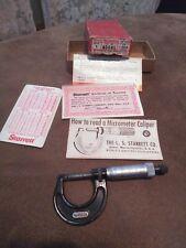 Strarrett Micrometer Caliper 436RL1 Inch