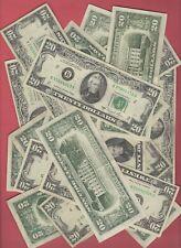 (1) $20  FEDERAL RESERVE TWENTY DOLLAR BILL..OLD CURRENCY..SMALL HEADS