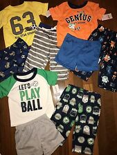 NWT Boys 12m 12 MONTHS CARTER'S 9 Piece Pajama Lot CUTE Sets