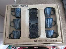 RETRO 1970'S TAMS HARVESTER 12 PIECE COFFEE SET UNUSED & BOXED