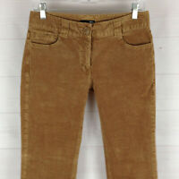 H&M womens size 8 stretch brown mid rise flap pocket bootcut corduroy pants EUC
