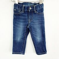 Baby Gap Toddler Boys Blue Denim Jeans Skinny Fit Size 12-18 Months