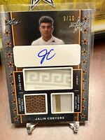 2020 Leaf Metal All American Jalin Conyers TRIPLE PATCH AUTO 9/10