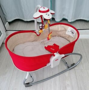 Tiny love 3 in 1 rocker baby napper red seat soft sleeping musical