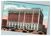 The Seelbach Hotel Cars & Horse Wagons, Louisville KY c1920 Postcard K14