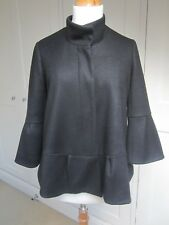 Diane von Furstenberg Black Wool Lowell Jacket. Size 8 (US 4)