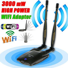 150Mbps 3000MW High Power USB WIFI Wireless Adapter Network Card 802.11 Antenna