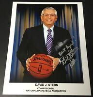 David Stern NBA Commissioner Signed 8x10 Photo Authentic Autograph Auto *Smudge