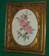 CAREN HEINE WATER COLOR PAINTING BRITISH COLUMBIA CANADA PINK ROSE LISTED ARTIST