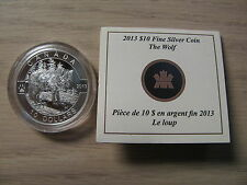 2013 Proof $10 O Canada - Wolf .9999 silver COIN & COA ONLY