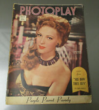1948 PHOTOPLAY Magazine May VG+ Linda Darnell See How They Run