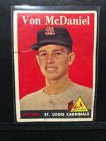 1958 Topps #65 Von McDaniel *Set Filler*