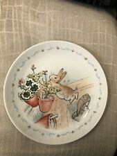 """Wedgwood Peter Rabbit """"Peter Jumped out the Window"""" Plate I'm Exc Cond"""