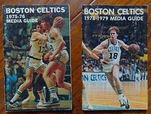 Boston Celtics: 1975-1976 Media Guide & 1978-1979 Media Guide  HAVLICEK, COWENS