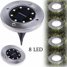 Outdoor Garden Solar Power Pathway Lights 8 LED Landscape Lawn Patio Yard Lamp