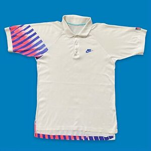 1990s Vintage Nike Challenge Court Polo Shirt Fits Size Small S Tennis McEnroe