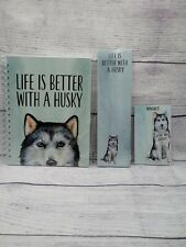 New ListingHusky Dog Notebook Notepad Magnet Set Bundle, Love My Husky, Life's Better with