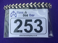 Dog Show Exhibitor Ring Number Holder Armband - SILVER BUTTERFLY Bling/Sparkles