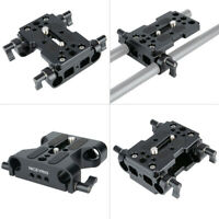 NICEYRIG Camera Mounting Plate DSLR Baseplate w/ 15mm Rod Clamp for DSLR Tripod