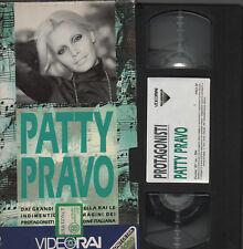 PATTY PRAVO videocassetta originale VHS I PROTAGONISTI VIDEORAI