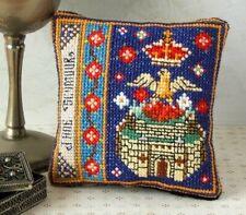 Jane Seymour Badge Pincushion Cross Stitch Kit, Sheena Rogers Designs