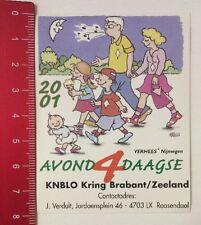 Aufkleber/Sticker: Avond 4 Daagse - KNBLO Kring Brabant/Zeeland 2001 (21031660)