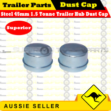 45mm Trailer Hub Drum Disc Dust Grease Cap - Superior Quality x 2