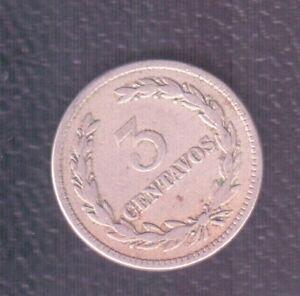 EL SALVADOR 3 CENTS 1915