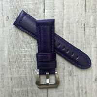 For Panerai PAM Luminor Marina 22/20mm 24/22mm Purple Leather Watch Strap Band