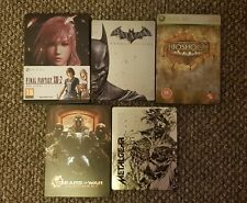 BUNDLE OF 5 VARIOUS STEELBOOK VIDEO GAME CASES ONLY  **NO GAMES INC**