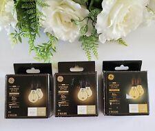 *6 PK GE LED Vintage Style Warm Candle Light Dimmable Bulb Amber Candelabra Base