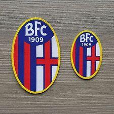 SET 2 pezzi TOPPA BFC BOLOGNA UFFICIALE calcio PATCH stickerei TERMOADESIVA