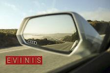 Anillos de Audi Plata Espejo de símbolo de pequeñas Pegatinas Calcomanías Gráficos x3