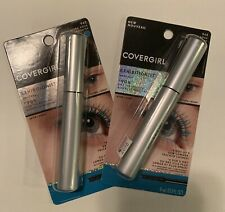 (2) COVERGIRL EXHIBITIONIST MASCARA #945 ULTRA AQUA -Makeup