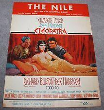 THE NILE CLEOPATRA ELIZABETH TAYLOR SHEET MUSIC 1963