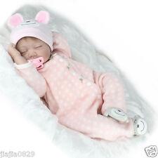 "22"" Real Life Soft Silicone Reborn Baby Dolls Girl Sleeping Newborn Kids Gift"