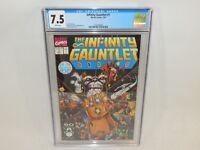 Infinity Gauntlet #1 Marvel Comics Thanos Jim Starlin July 1991 CGC 7.5 White