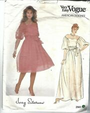 Vogue Sewing Pattern 2983, Jerry Silverman, Vintage Dress and Sash, Size 6 - 10