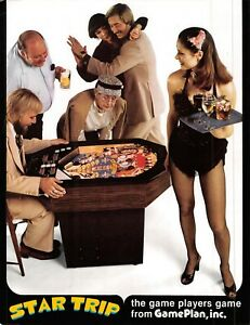 Game Plan Star Trip Pin Ball Vintage Advertising Sales Flyer 1970s 021219AME